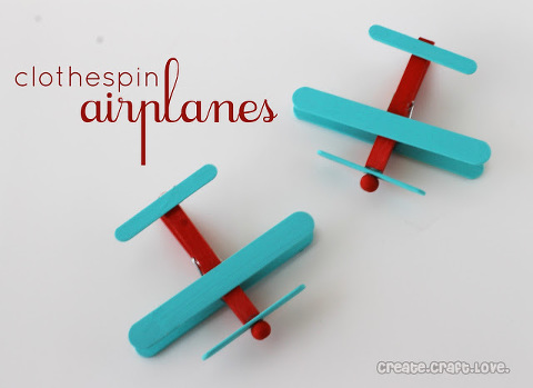 clothespin airplanes for kids
