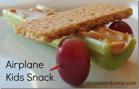 airplane peanut butter celery