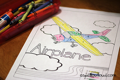 airplane picture printables