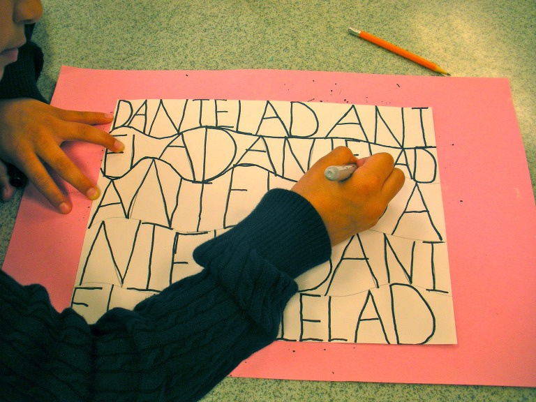 roller coaster craft with letters of name