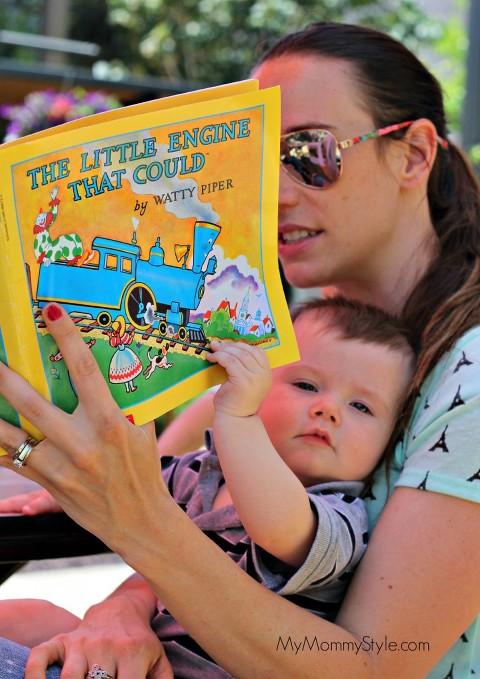 reading at the park, trains, mmssummerlearningseries