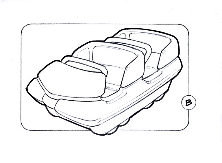 Back seats of roller coaster ride coloring page