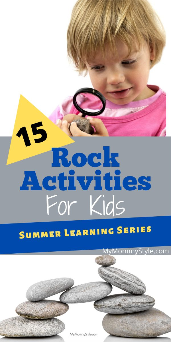 Learn all about rocks with these 15 simple, easy and fun rock activities for kids. Rocks are great for crafting, playing games and collecting. via @mymommystyle