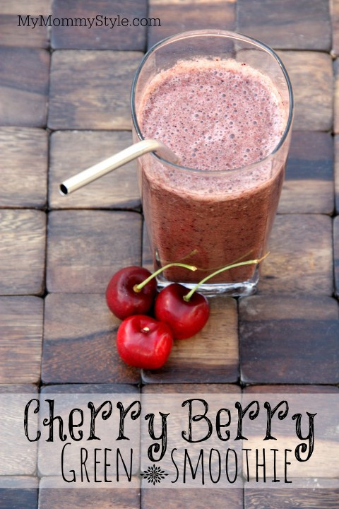 cherry berry green smoothie