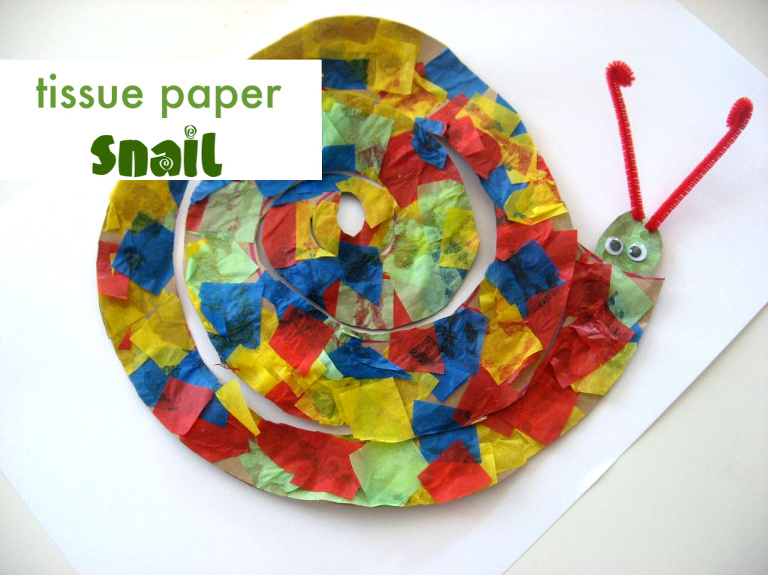 tissue paper snail