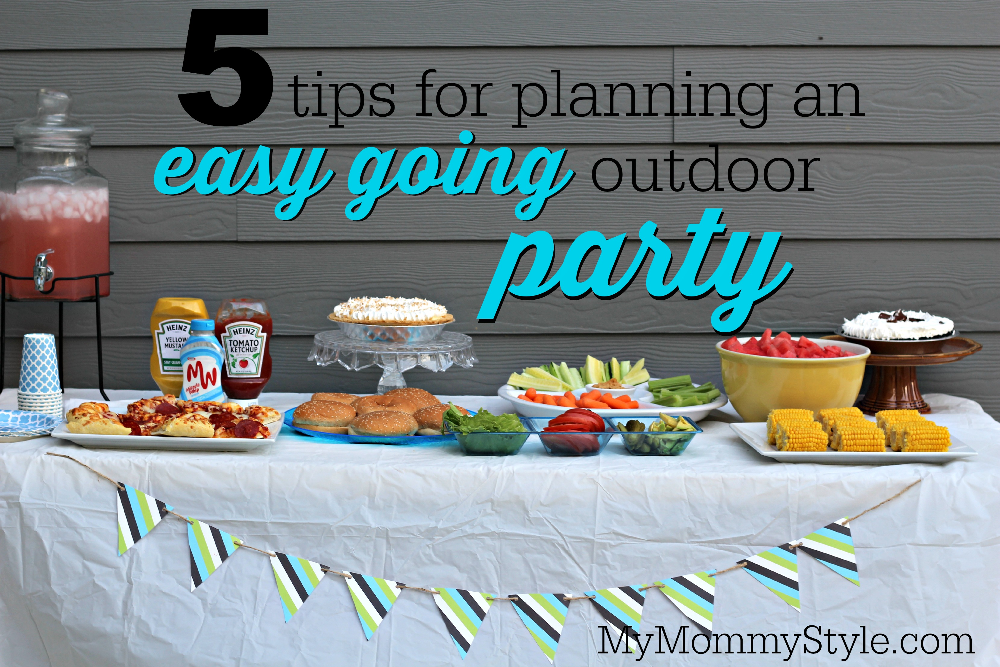 5 tips for planning an easy going outdoor party - My Mommy ...