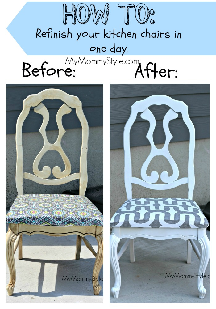 Genial DIY Kitchen Chairs Before And After Mymommystyle.com_1