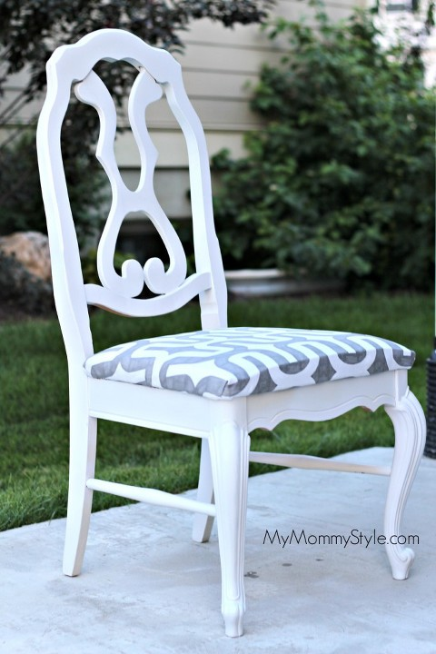 chair diy, paint, redo, home goods, mymommystyle.com
