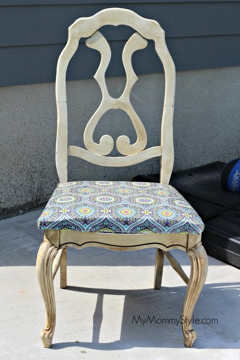 chair make over, diy, before and after, mymommystyle.com