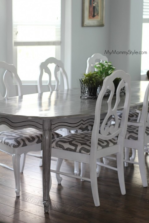 chair redo, table, diy, how to, paint, mymommystyle.com