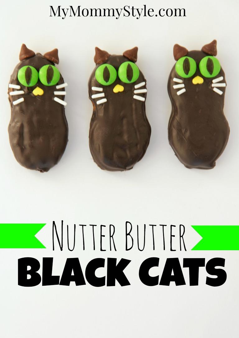 Nutter Butter Black Cat Halloween treat
