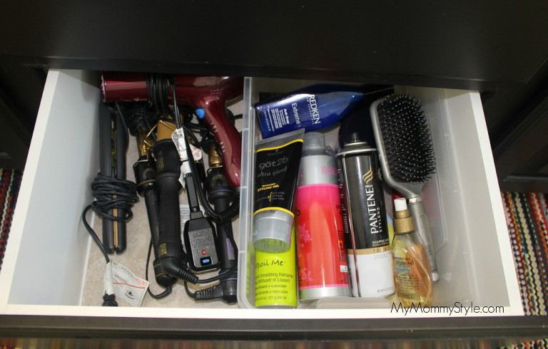 organizing hair products, ikea, first 59, bathroom