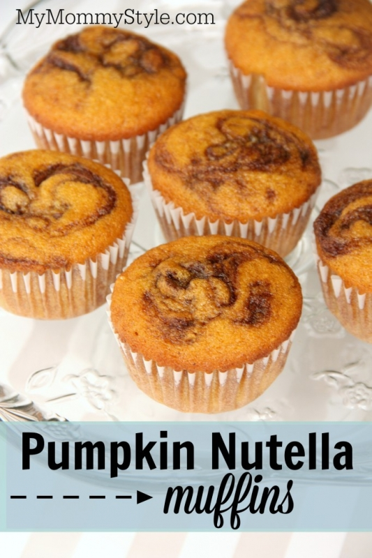 Pumpkin Nutella Muffins - My Mommy Style