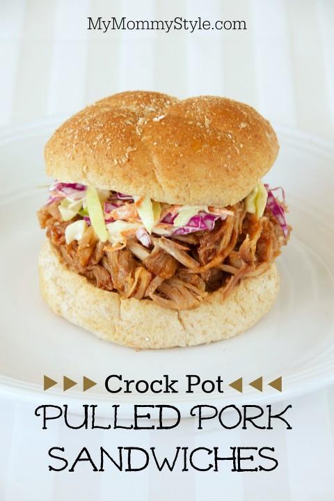 crock pot pulled pork sandwiches