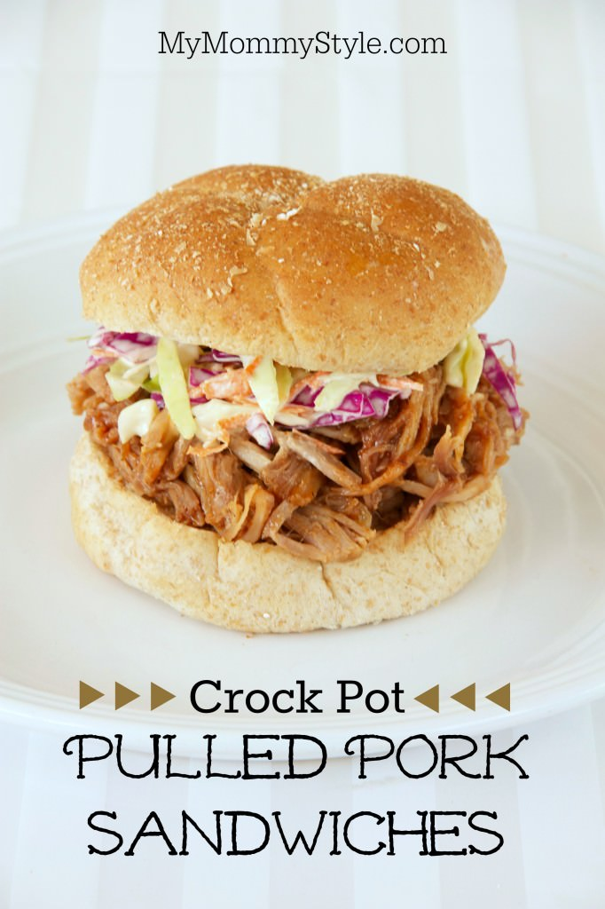 Crock Pot Pulled Pork Sandwiches My Mommy Style