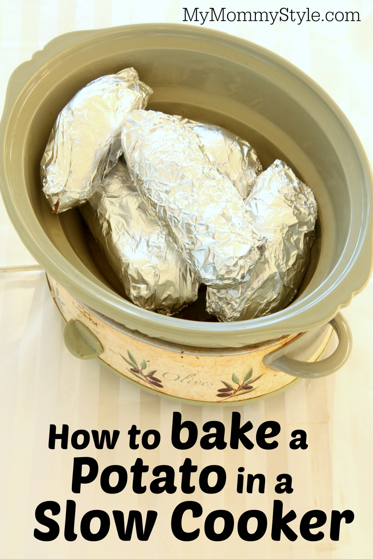 How to bake a potato in a slow cooker - My Mommy Style
