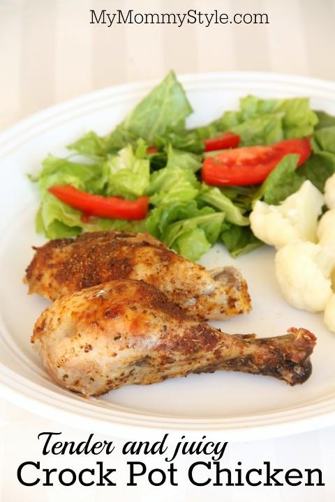 tender and juicy crock pot chicken