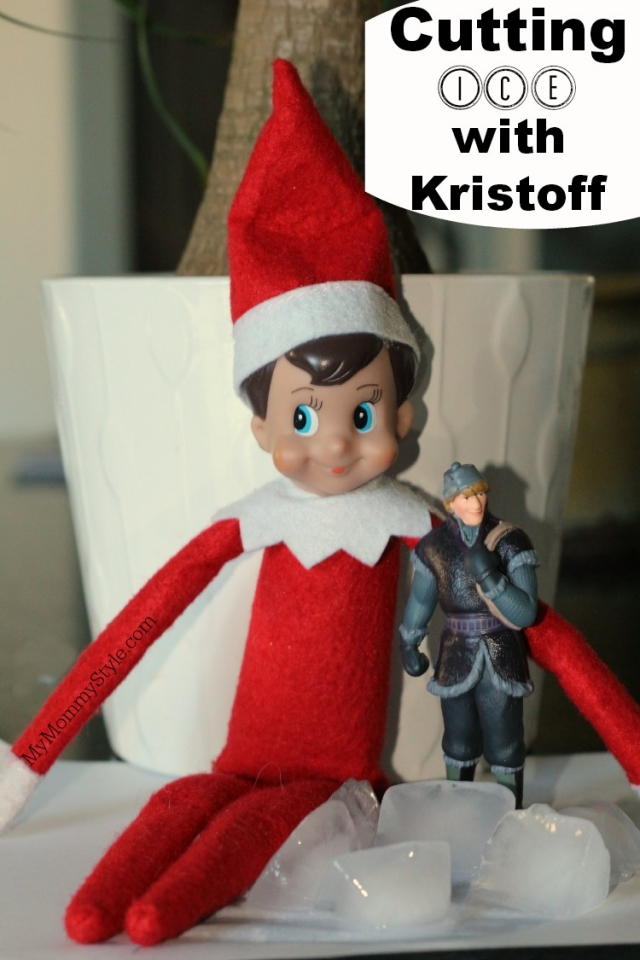 Elf On The Shelf Frozen Cutting Ice With Kristoff My