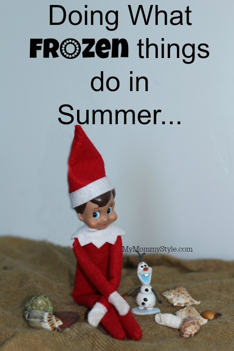frozen, elf on the shelf, olaf, elf, christmas, frozen things do in Summer