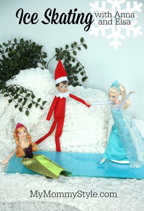 elf on the shelf, ice skating