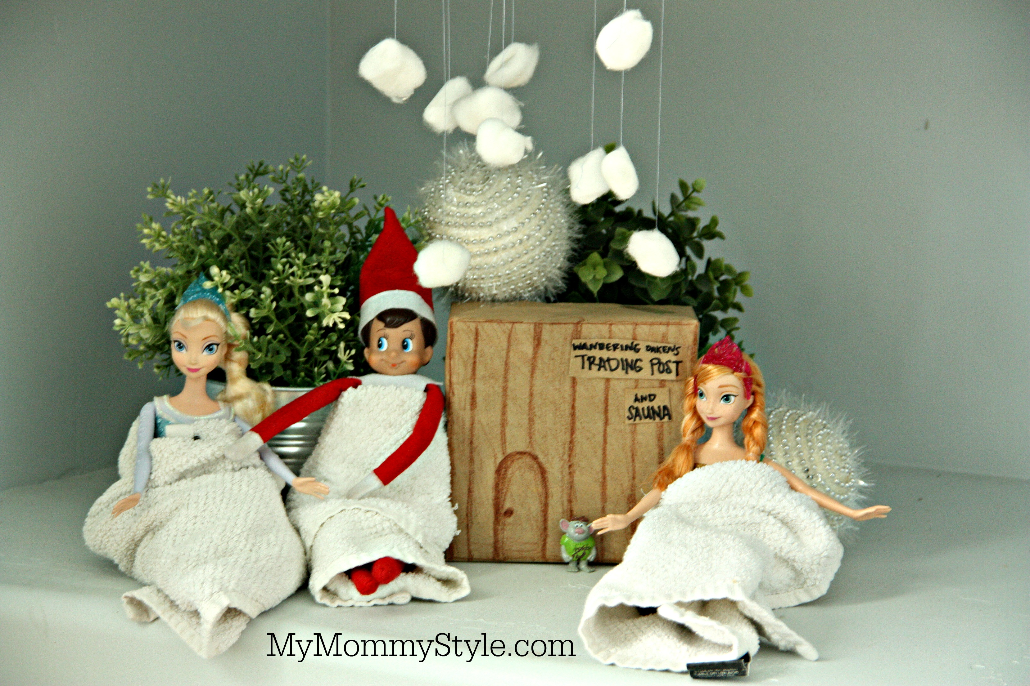 Elf On The Shelf Frozen Visiting The Trading Post