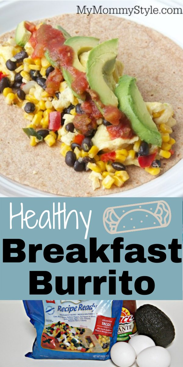 Start you morning with a Healthy Breakfast Burrito full of veggies, beans and eggs wrapped in wheat tortilla. Perfect meal prep breakfast! #healthybreakfastburrito #howtomakeabreakfastburrito via @mymommystyle