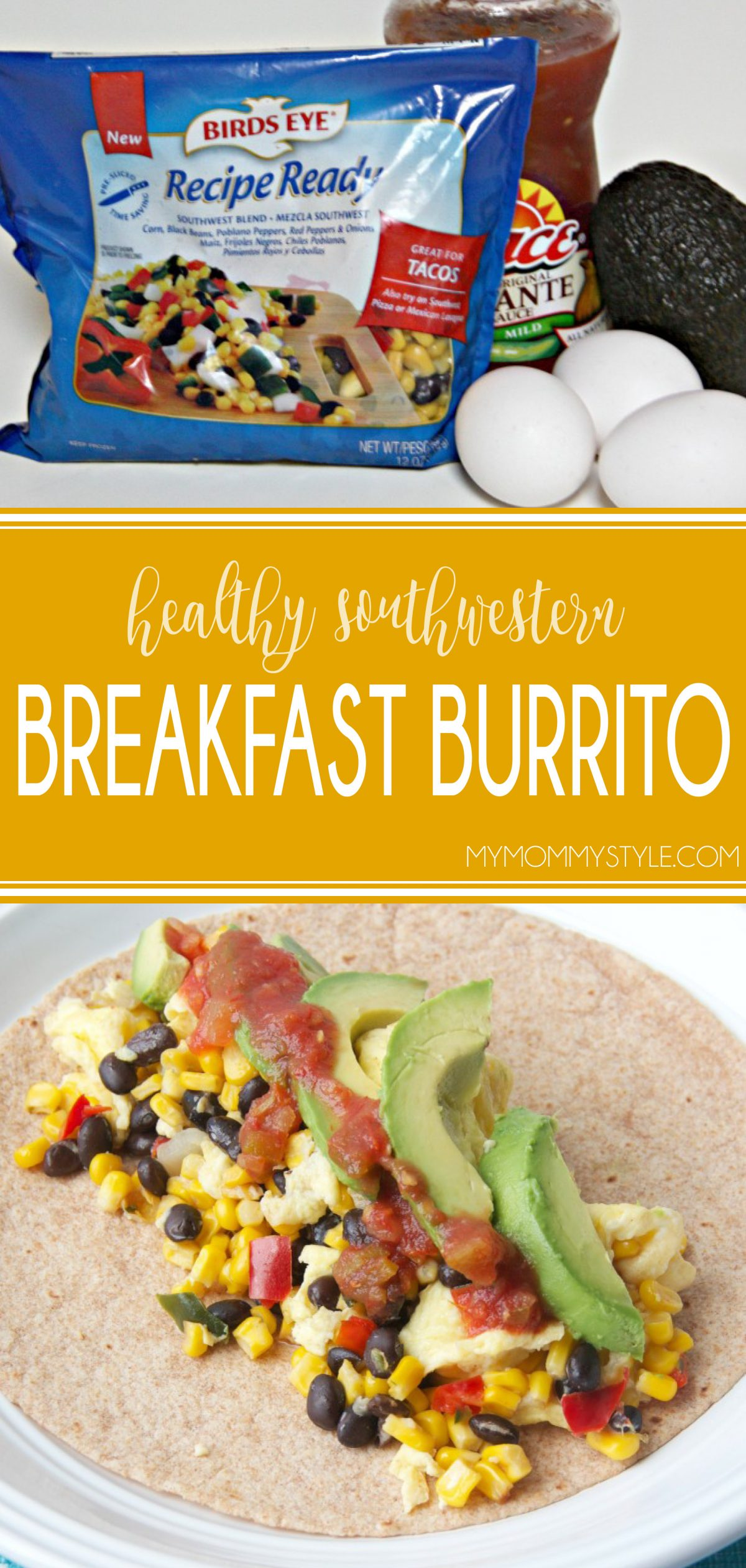 Making breakfast burritos in the morning is an easy (and relatively quick) way to get some extra veggies, protein, and fiber in your diet. You can also make a batch of them and store them in the freezer for a quick meal later on! via @mymommystyle