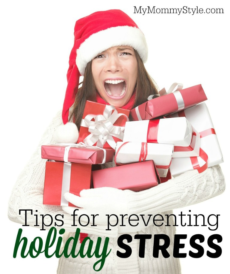 Christmas stress shopping woman