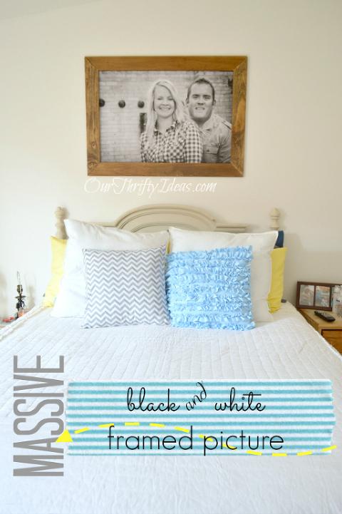 master bedroom black and white photo