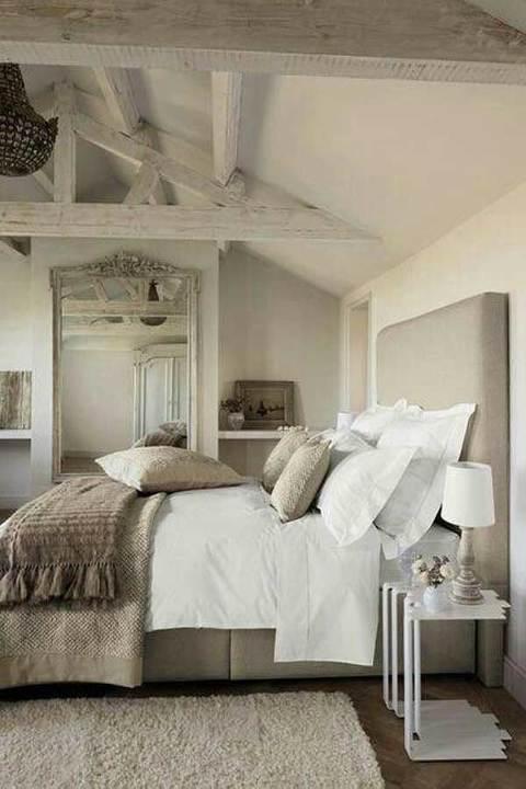 master bedroom exposed beams
