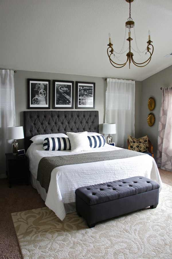 25 beautiful master bedroom ideas my mommy style Black white and grey bedroom designs