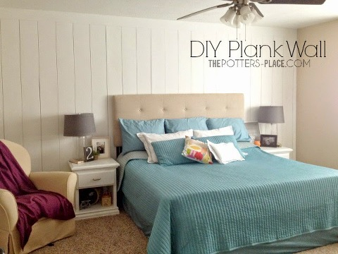 master bedroom potters place plank wall