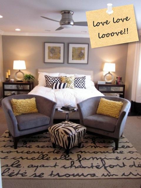 master bedroom yellow grey cool rug