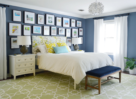 master bedroom young house love gallery wall
