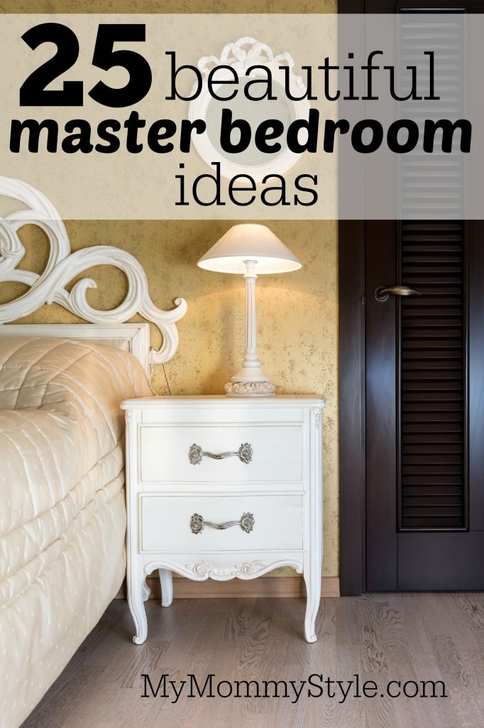 White Vintage Style Nightstand With A Lamp In Bedroom