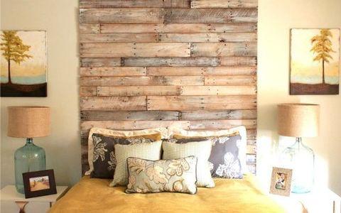master bedroom reclaimed wood
