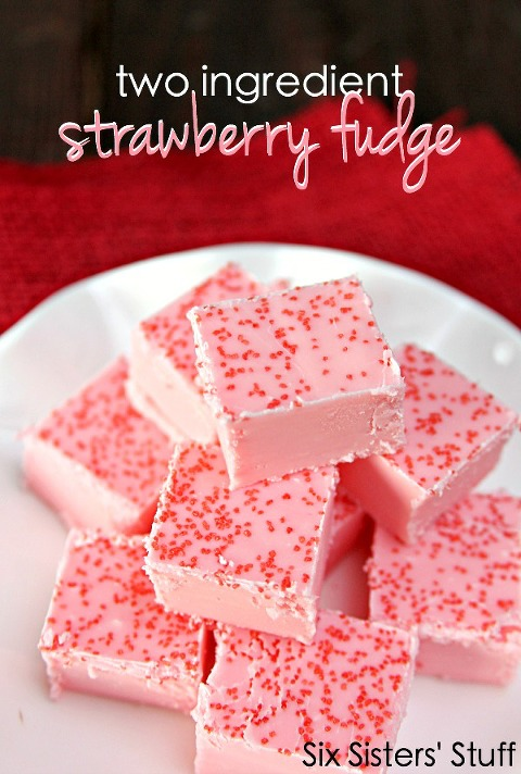 Two-Ingredient-Strawberry-Fudge-on-SixSistersStuff