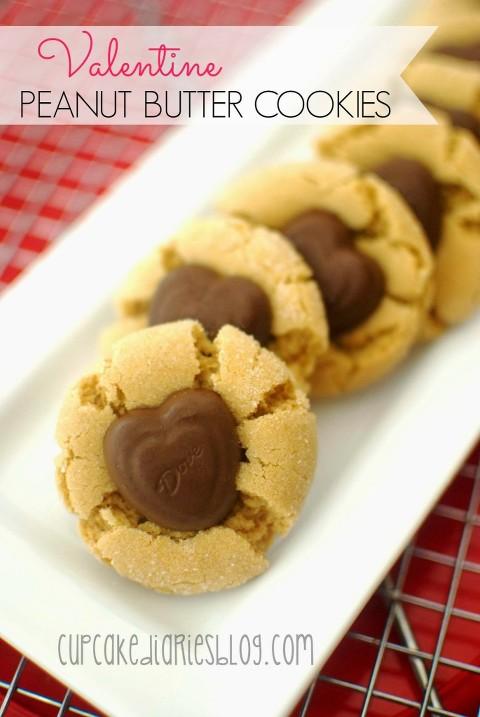 Valentine's Peanut butter cookies cupcake diaries