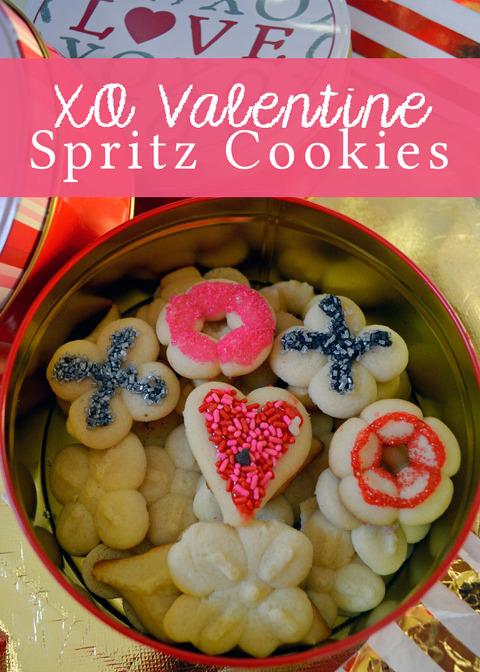 XO Valentine Spritz Cookies My Daylights