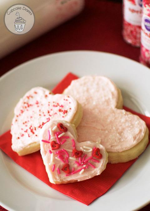 heart sugar cookies cupcake diaries