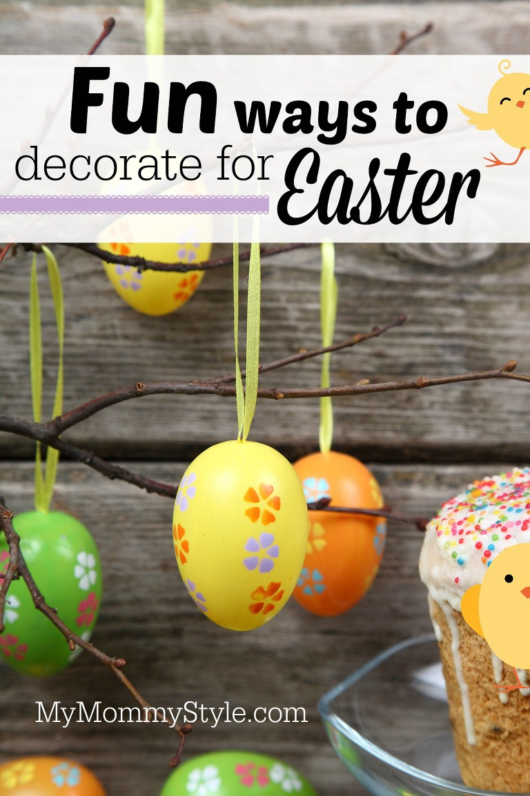 Easter composition on wooden background