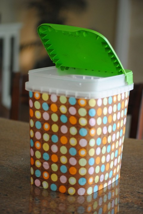 recycled car garbage can