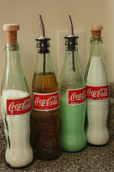 recycled coke bottles