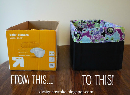 recycled diaper box