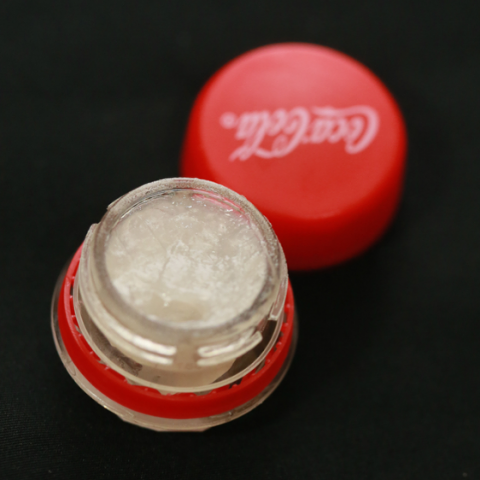 recycled lid to lip balm