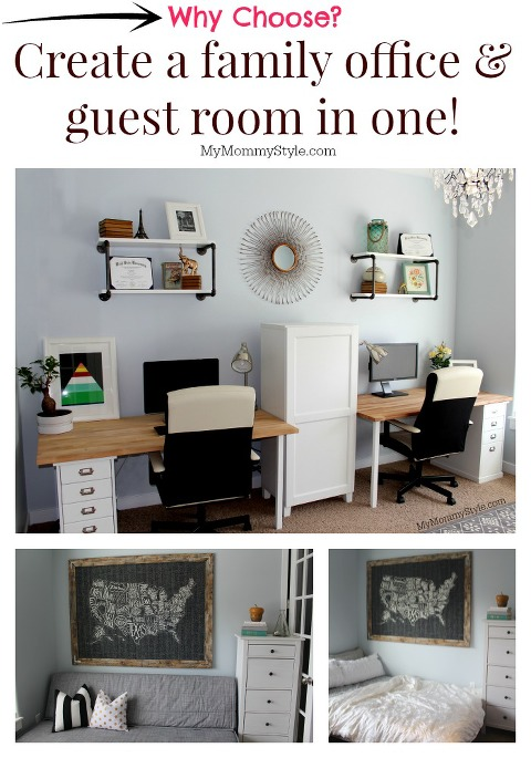 Create a family office and guest room in one