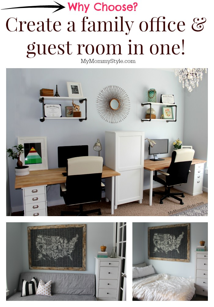 A Family Office And Guest Room In One My Mommy Style