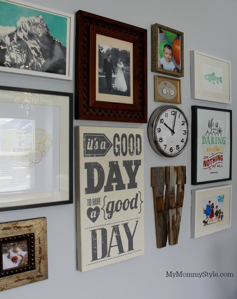 Gallery wall, modify ink, family office and guest room, IKEA, mymommystyle.com, Modifyink, family office, home office,
