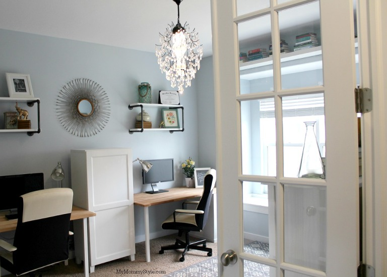 family office and guest room, IKEA, mymommystyle.com, Modifyink, family office, home office, decor, mymommystyle.com