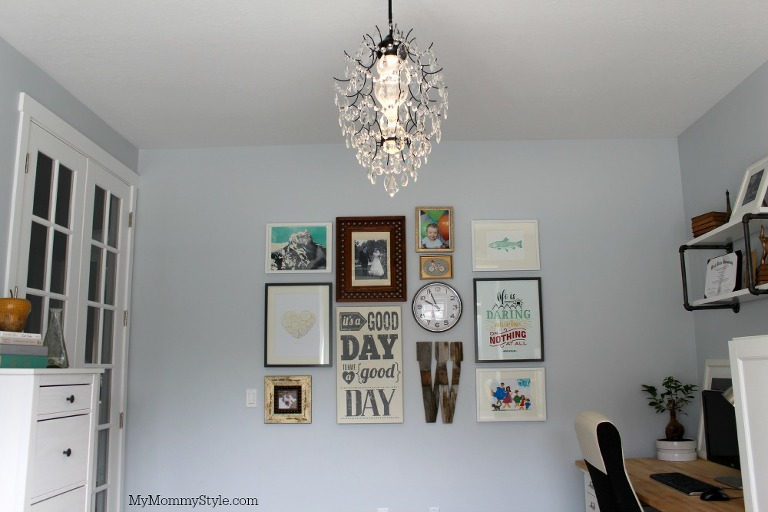 family office and guest room, IKEA, mymommystyle.com, Modifyink, family office, home office, gallery wall, wall art, interior design, home office, modify ink
